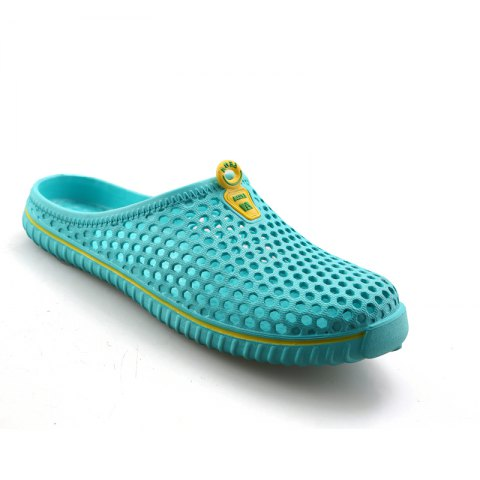 Slippers Beach Shoes Hollow Out Breathable Couples - GREEN 39