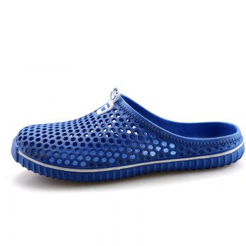 Slippers Beach Shoes Hollow Out Breathable Couples - BLUE 43