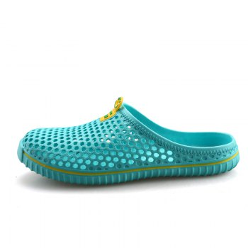 Slippers Beach Shoes Hollow Out Breathable Couples - GREEN 37