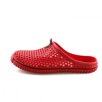 Slippers Beach Shoes Hollow Out Breathable Couples - RED 38