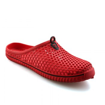 Slippers Beach Shoes Hollow Out Breathable Couples - RED RED