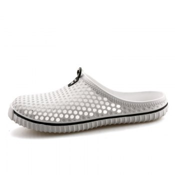 Slippers Beach Shoes Hollow Out Breathable Couples - WHITE 44