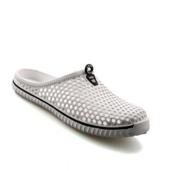 Slippers Beach Shoes Hollow Out Breathable Couples - WHITE WHITE