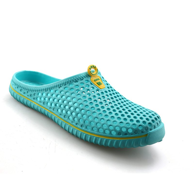 Slippers Beach Shoes Hollow Out Breathable Couples - GREEN 40