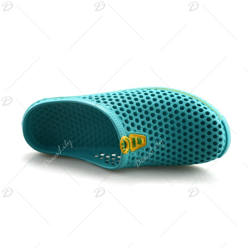 Slippers Beach Shoes Hollow Out Breathable Couples - GREEN 44