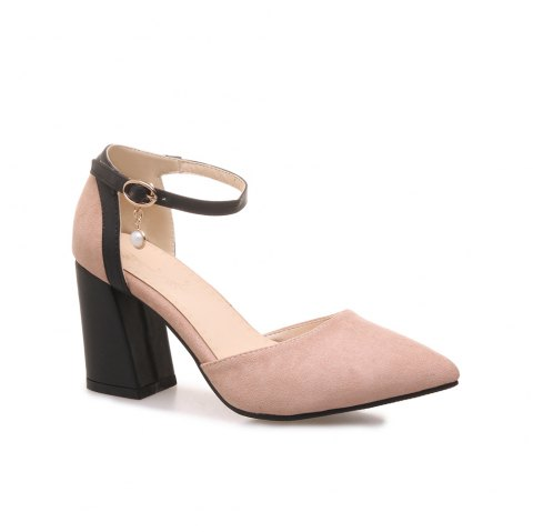 Women's Sandals Fashion Elegant Solid Cusp Breathable Cozy Shoes - PINK 37