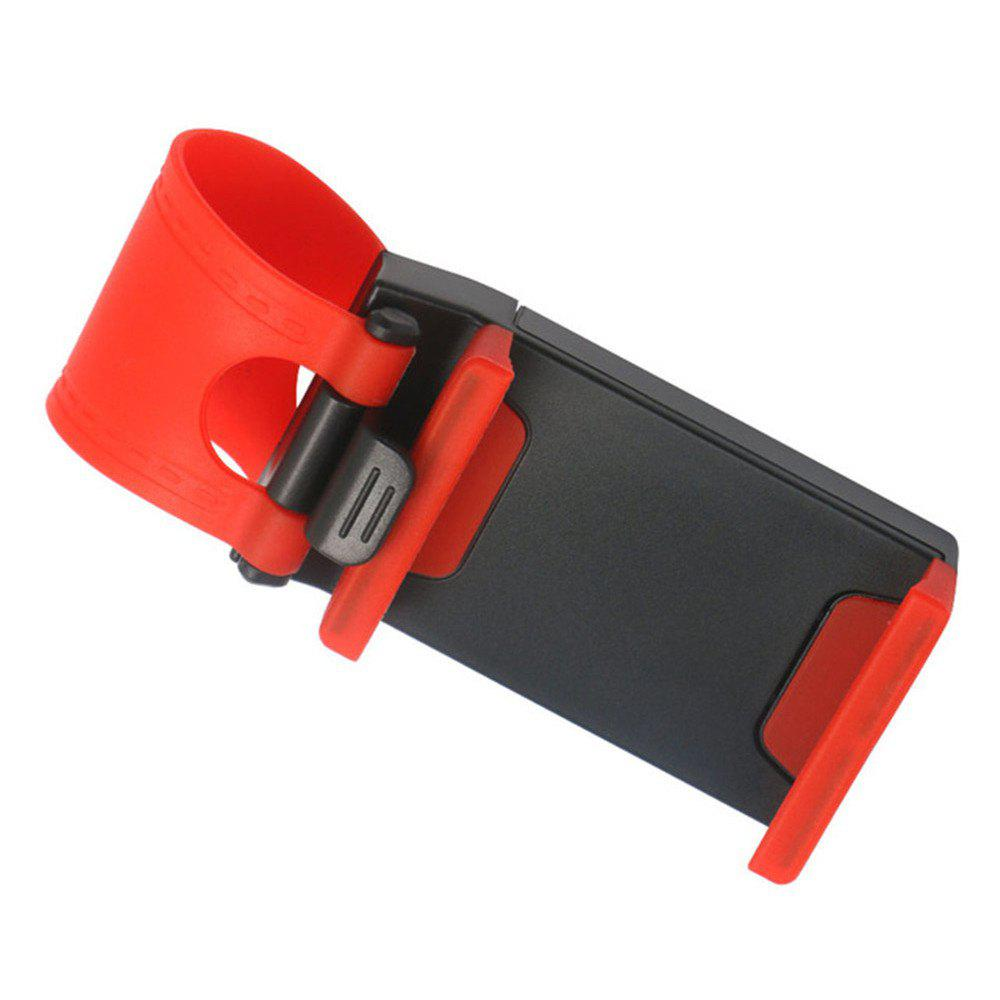 Universal Stand Car Steering Wheel Clip Mount Holder for Mobile Phone GPS Accessories - RED