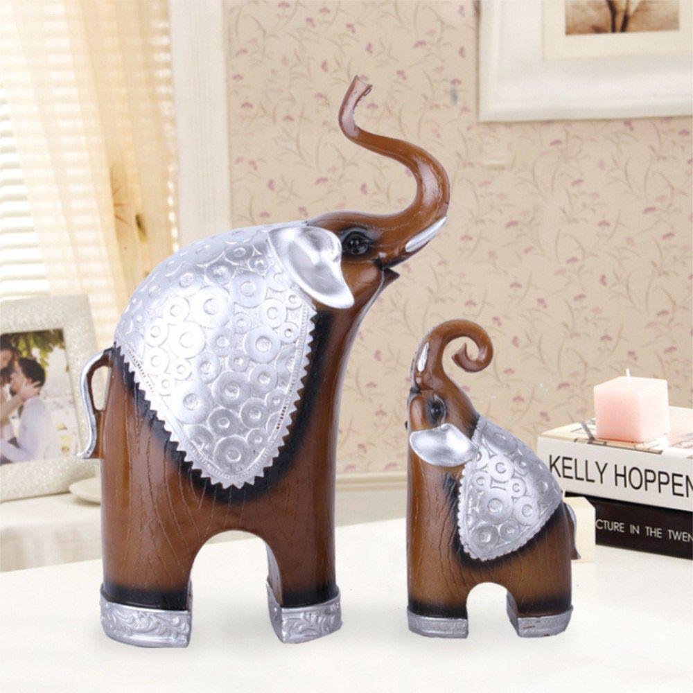 2018 Mother Child Elephant Living Room Bedroom Restaurant Resin ...