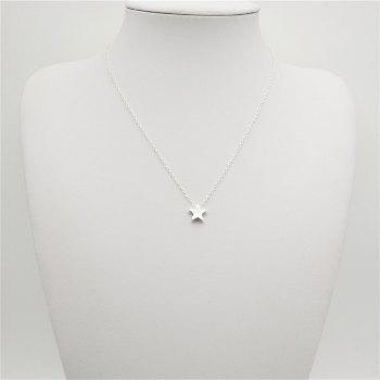Fashion Ladies Classic All-Match Stars Pendant Necklace - SILVER SILVER