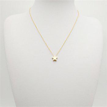 Fashion Ladies Classic All-Match Stars Pendant Necklace - GOLD
