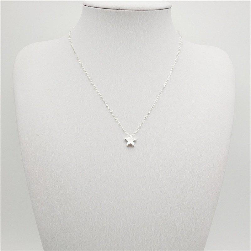 Fashion Ladies Classic All-Match Stars Pendant Necklace - SILVER