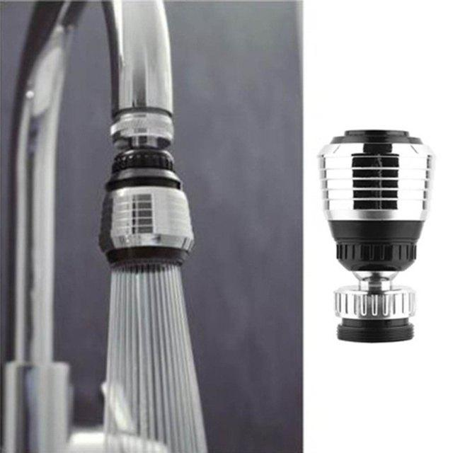 New 360 Rotate Swivel Faucet Nozzle Filter Adapter Water Saving Tap Aerator Diffuser good quality wholesale and retail chrome finished pull out spring kitchen faucet swivel spout vessel sink mixer tap lk 9907