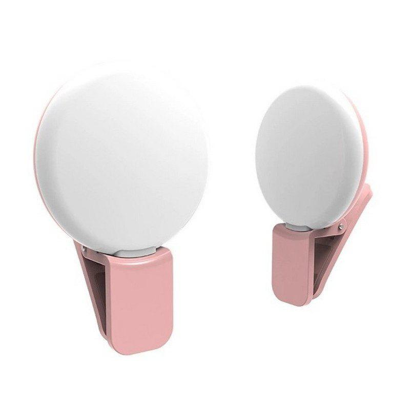 LED External Fill Light Appearance Beautification Selfie Lights Flashes and Accessories Photographic - PINK