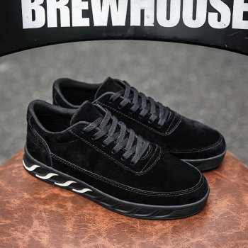 The New Thick Men'S Shoes - BLACK 43