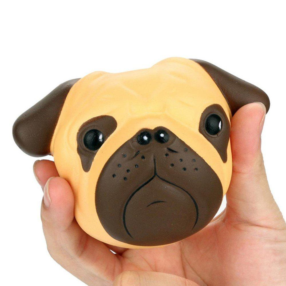 Stress Reliever Cartoon Dog Scented Super Slow Rising Kids Toy - YELLOW