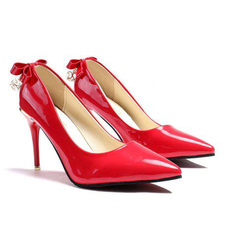 bb188086d43 Sexy Pointed Girl with High Heel Shallow Bow Tie Fashion Woman Shoes