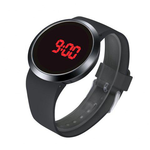 LED touch watch faiones brand watches men's sports sports watch digital watch case rubber band watches Electronic watche - BLACK
