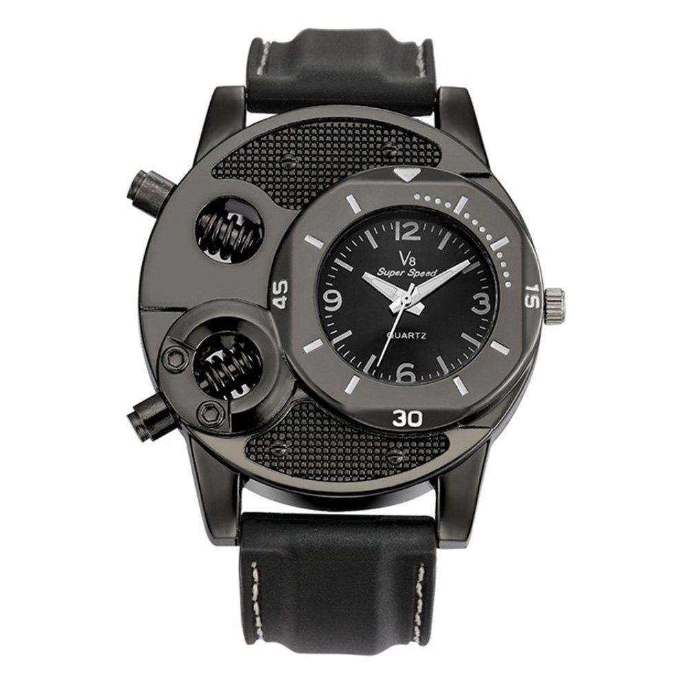 Men Watches Fashion Casual Watch Man Clock Army Military Steampunk Sports Male Quartz-Watch Men Hodinky Relojes Hombre H - BLACK