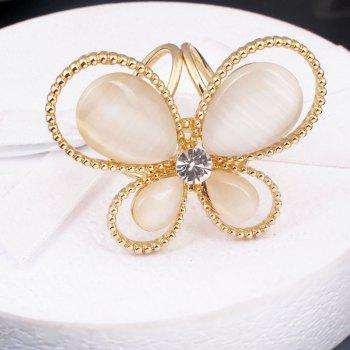 New Arrival Beautiful Butterfly Scarf Buckle Inlaid Opal High-End Shoulder-Buckle Fashion Women Brooch Corsage - GOLDEN