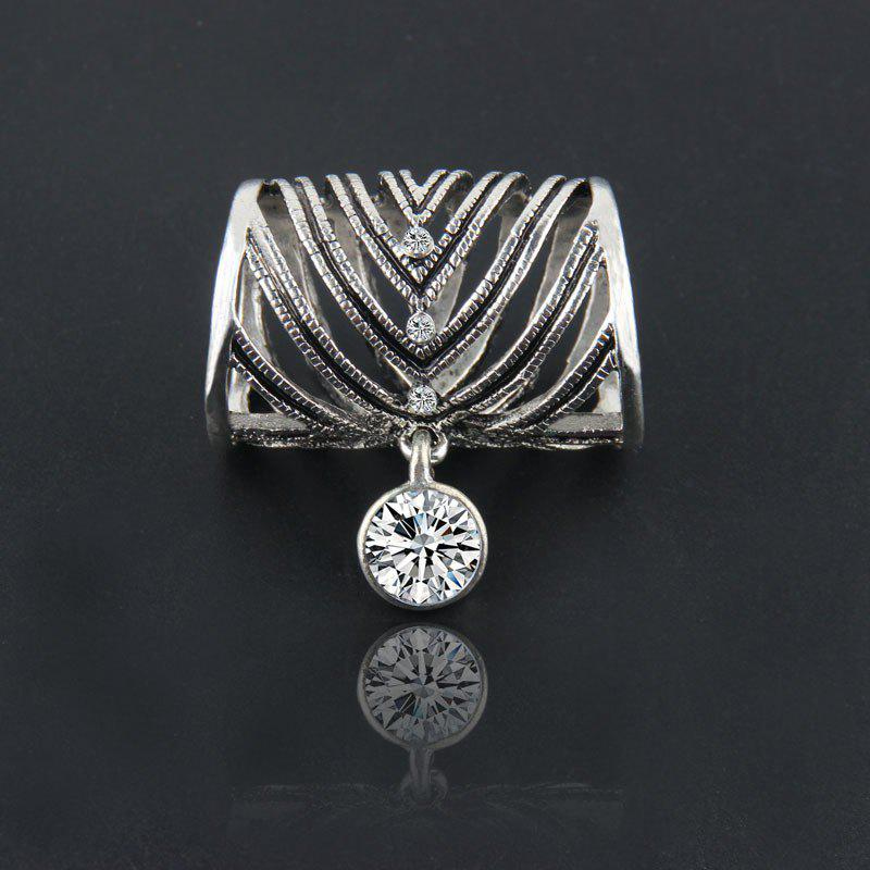 Fashion Hollow Out High Quality Metal With Pendant Brooch Pins Heart Romantic Scarf Buckle Brooch Gold Sliver Plated - BLACK / SILVER