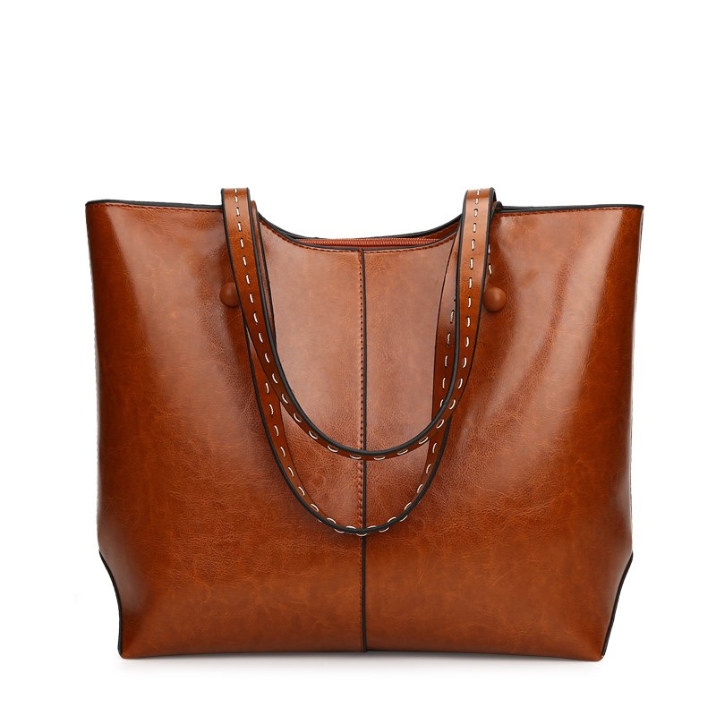 Shoulder Bag Messenger Bag Department Handbag Soft Leather Bag - BROWN