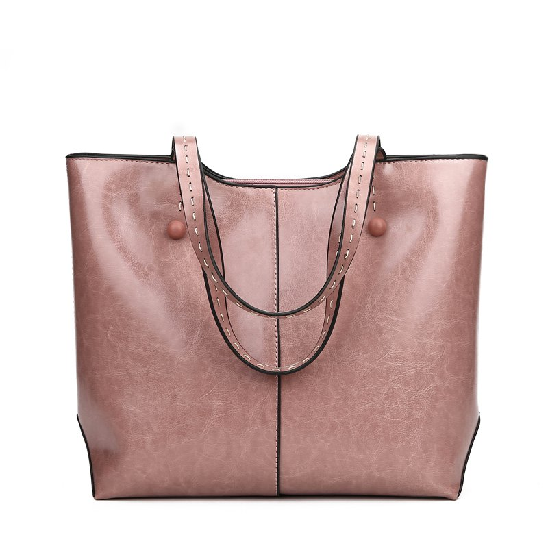 Shoulder Bag Messenger Bag Department Handbag Soft Leather Bag - PINK