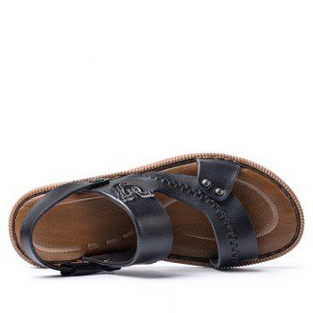 Latest Design Mens Sandal for Summer Season Leather Sandal - BLACK 38