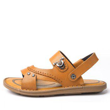 Latest Design Mens Sandal for Summer Season Leather Sandal - BROWN 40