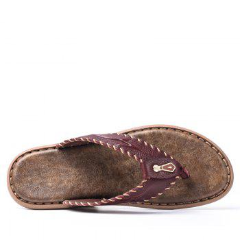 Top Selling Beach Thick Sole Flip Flop Slippers for Men - BURGUNDY 40