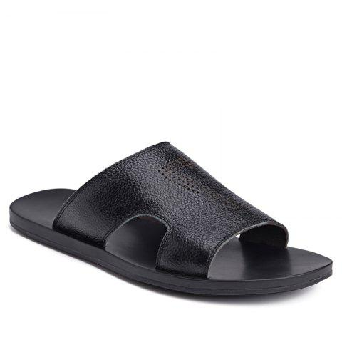 Leisure Sandals Beach Shoes for Men - BLACK 39