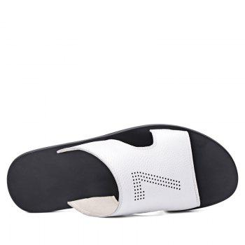 Leisure Sandals Beach Shoes for Men - WHITE 43