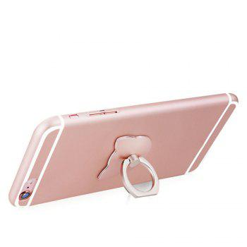 Cartoon Cat Head 360 Degree Finger Ring Mobile Phone Smartphone Stand Holder - ROSE GOLD