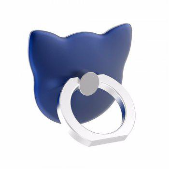 Cartoon Cat Head 360 Degree Finger Ring Mobile Phone Smartphone Stand Holder - BLUE BLUE
