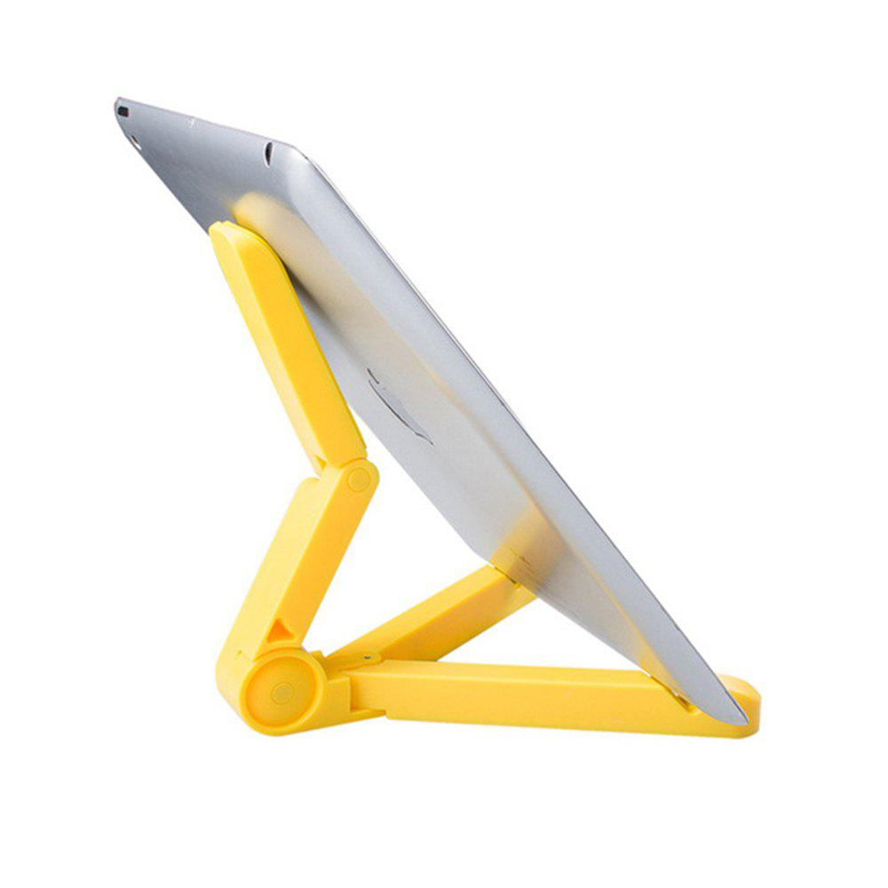 Universal 360 Degree Rotating Folding Portable Stand Holder - YELLOW