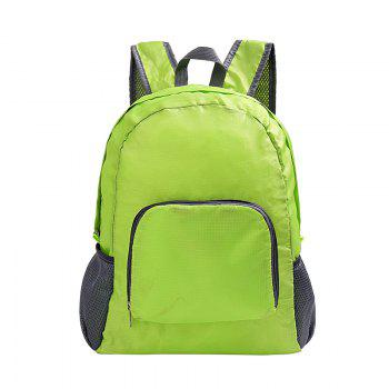 Outdoor Folding Storage Travel Shoulder Bag Light Nylon Outdoor Package Mountaineering - GREEN GREEN