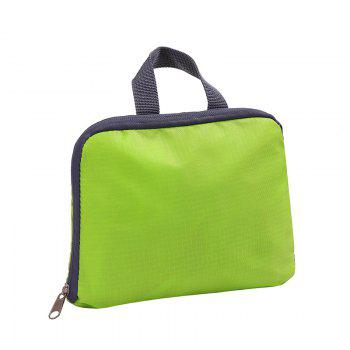 Outdoor Folding Storage Travel Shoulder Bag Light Nylon Outdoor Package Mountaineering - GREEN