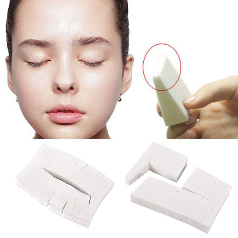 24PCS Beauty Makeup Toolss Triangle Cotton Powder Puff Functionality Makeup Sponge Wedges Facial Foundation Cosmetic Cot - WHITE