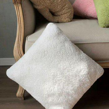 Multi-Functional Ultra Soft Lambs Wool Blanket Pillow Cushion for Leaning On - WHITE