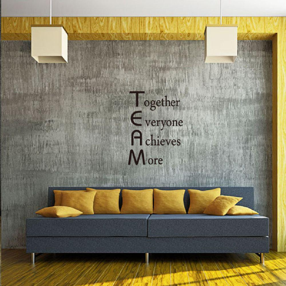 office wall stickers. DSU Team Motivational Quote Office Wall Sticker Together Everyone Achieves More Inspirational Art Decor - Stickers U