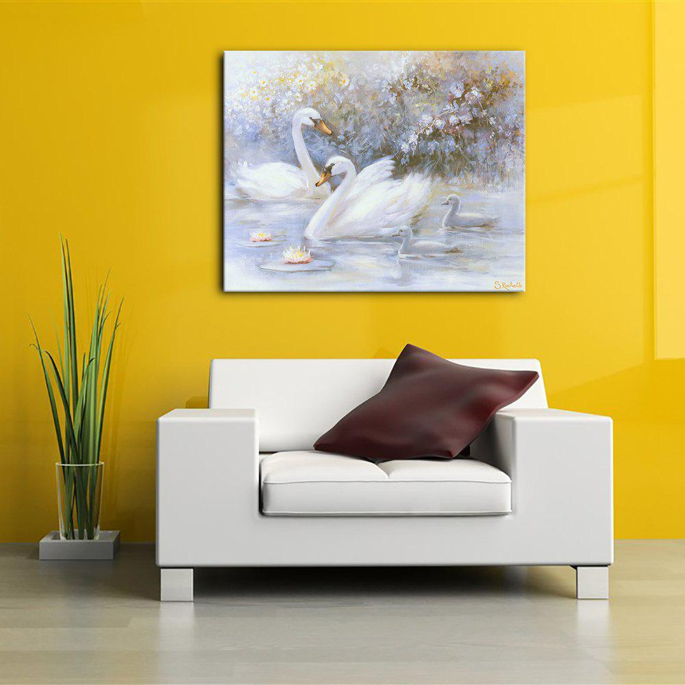 2017 YHHP 1 Panel Hd Print Animal Beautiful White Swans COLORMIX X ...