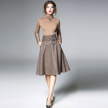 Spring and Summer New 2018 Women Skirt Suit - APRICOT 2XL