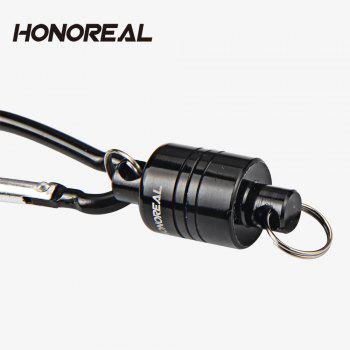 HONOREAL 6.6LB  Magnetic Clip Fishing Net Release Holder - BLACK