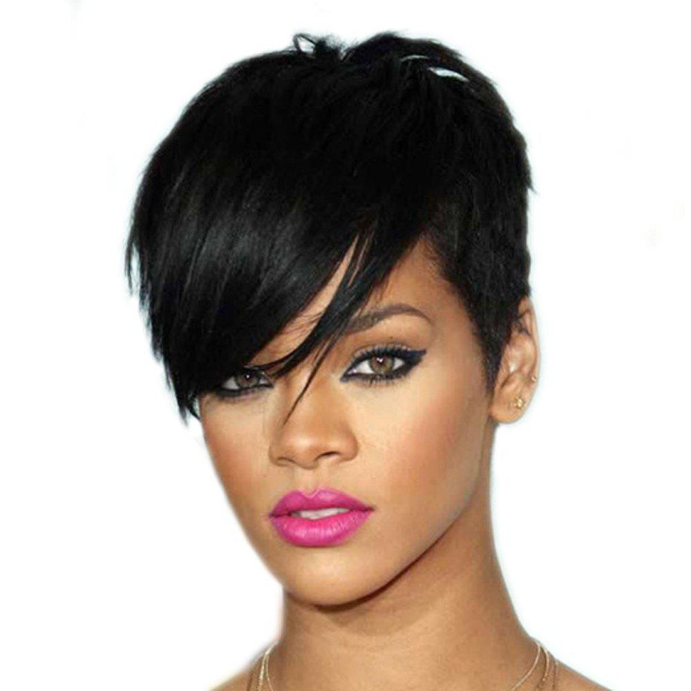 Fashion Women Hair Accessory Synthetic Black Short Straight Wigs short bob wigs for black women peruca masculina cheap wigs synthetic sentetik peruk lace wigs anime jinx cosplay wigs natural