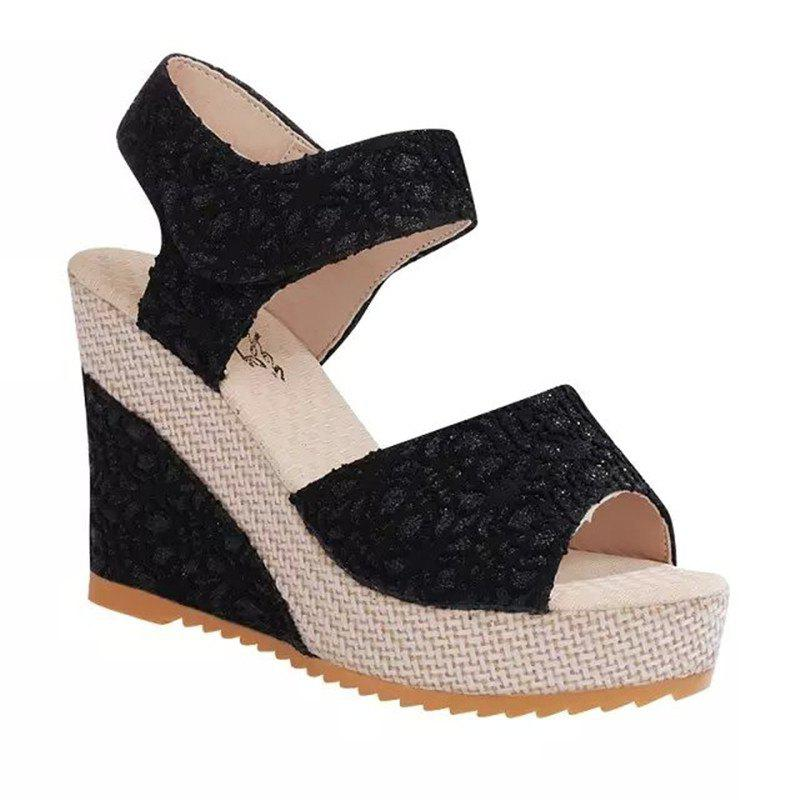 Wedge And Fish-mouthed Platform Heels For Platform Sandals
