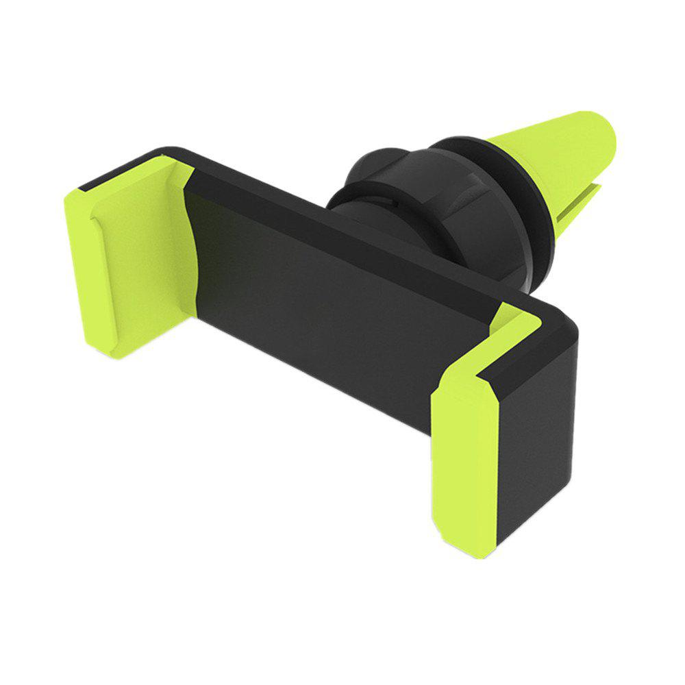 360 Rotation ABS Phone Holder Stand for Mobile Smartphones Mount Car Air Vent - GREEN