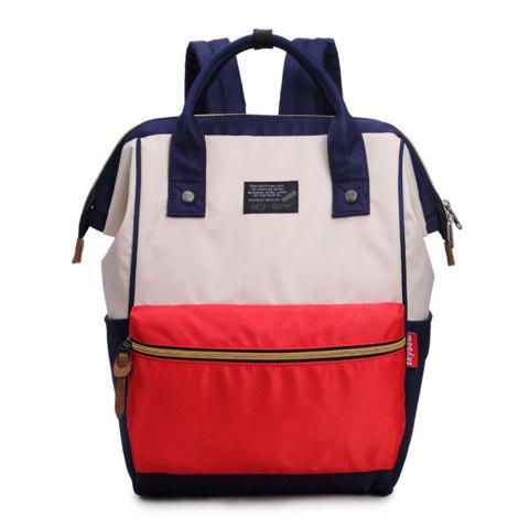 d8acc450df Stylish Oxford Cloth Double Shoulder Backpack College Student School Bag -  BLUE RED