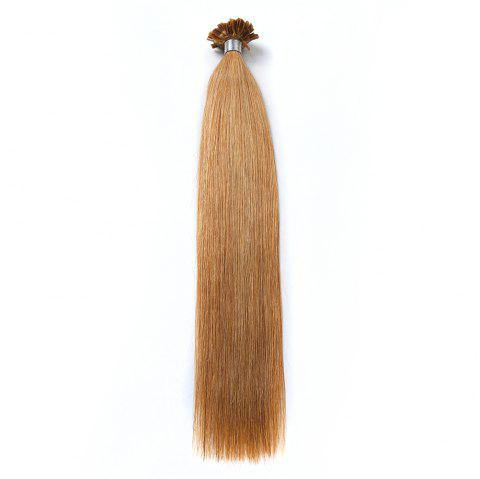 M.Light Colors Straight U Tip Hair Extensions Remy Hair in Fusion Hair Extensions 100pcs/pack - 27 24INCH