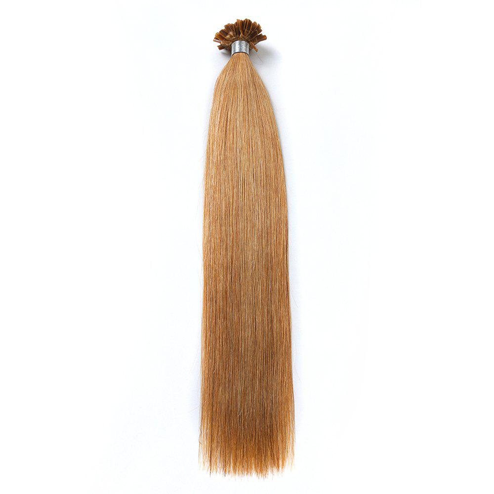 M.Light Colors Straight U Tip Hair Extensions Remy Hair in Fusion Hair Extensions 100pcs/pack -  24INCH