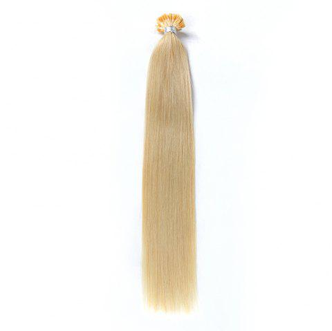 Light colors Straight U Tip Hair Extensions Remy Hair in fusion hair Extensions 100pcs/pack - 613 16INCH