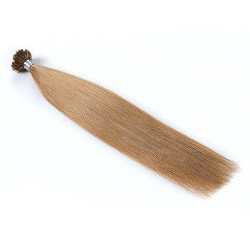 Light colors Straight U Tip Hair Extensions Remy Hair in fusion hair Extensions 100pcs/pack - 18#